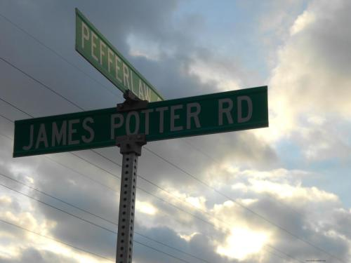 rose-tylah:  Just a street near my cousin's house named after JAMES FRICKEN POTTER.