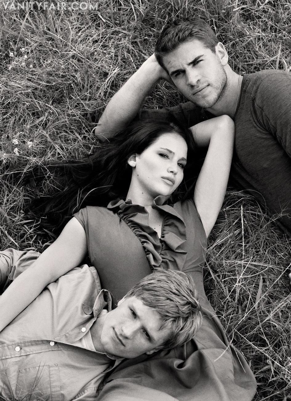 Jennifer Lawrence, Liam Hemsworth & Josh Hutcherson