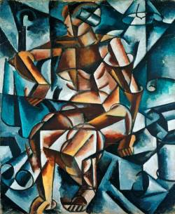 lyubov Popova seated figure 1914-15