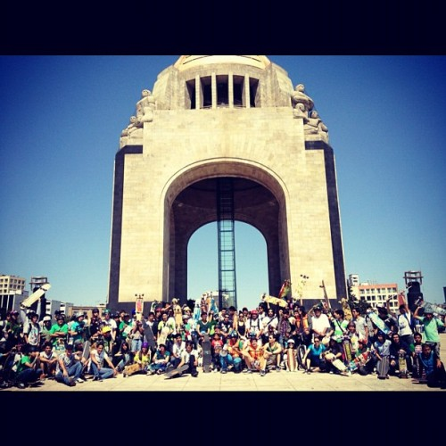 kittenyay:  Green skate 2012 :) #longboard 100+ skaters (Taken with instagram)