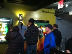 Amazing Marley fans at the NYC Sunday night show for Marley movie taking in the Bob Marley concert display.   Go see Marley movie! It's out now! Take a picture at the theater and we'll send you a free poster! (seriously)! In theaters, on demand, iTunes, ON FACEBOOK and more!