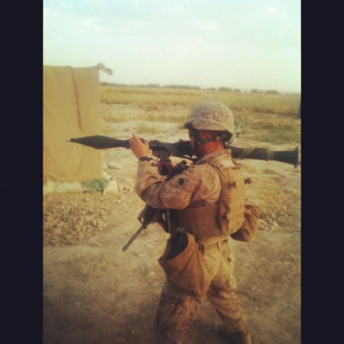 #hm3 #corpsman #navy #marine #rpg #afghanistan #deployment (Taken with instagram)