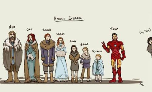 La #ImagenDelDia… GAME OF THRONES + Iron Man… sí, Tony es parte de la Casa Stark ¿no lo sabías?