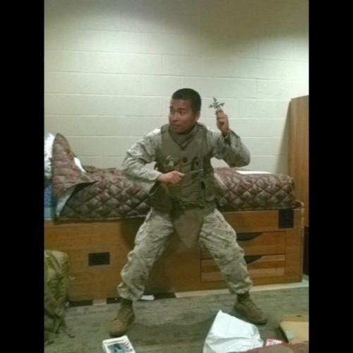 #corpsman #hm3 #ninja #throwingknife #knive #shuriken #throwingstar #chinesestar (Taken with instagram)
