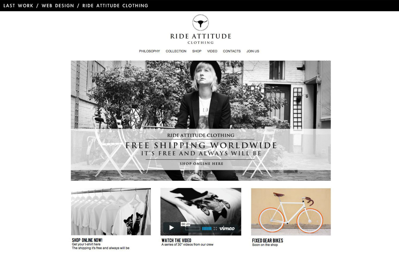 Web design / Ride Attitude