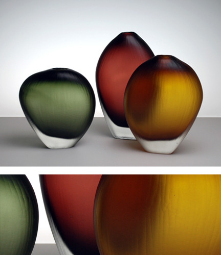 liquidsand:  Aurora Vases by Devin Burgess of DB Glassworks