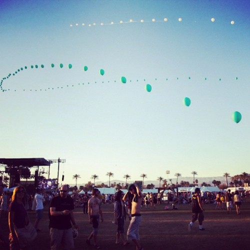 Who are you seeing tonight? #coachella  (Taken with instagram)