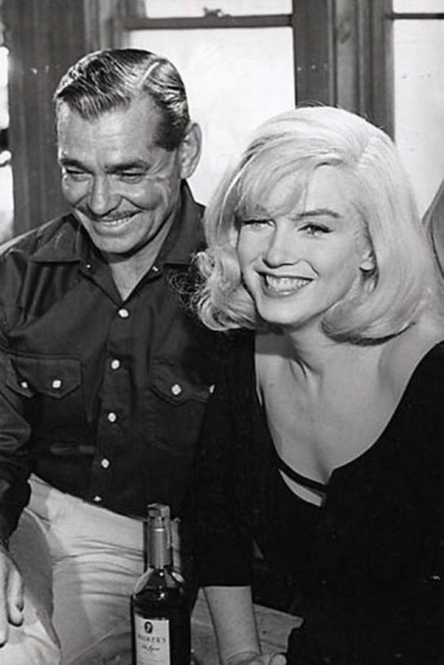 Clark Gable and Marilyn Monroe, 1961 Photo by Inge Morath