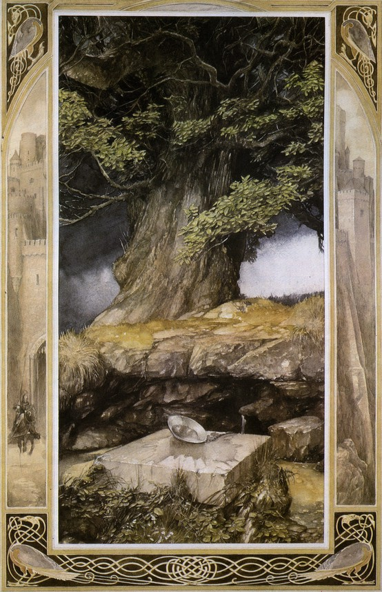 Illustrated by Alan Lee ~ from The Lady of the Fountain ('The Mabinogion')