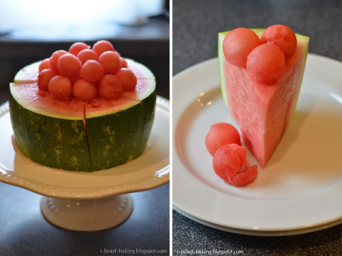 thecakebar:  Watermelon Cake! (tutorial)