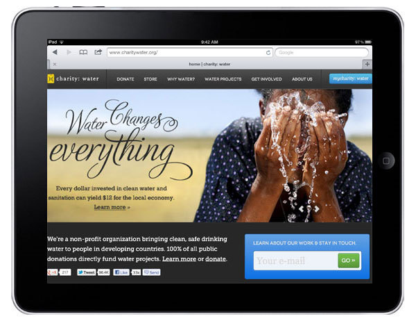Great looking charity website for tablet. (via 11 Nonprofit Websites That Look Great on iPads « Nonprofit Tech 2.0 Blog :: A Social Media Guide for Nonprofits)