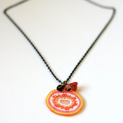 """Amoeba in Technicolor"" Necklace by timesabillion  their tumblr is annaberrant"