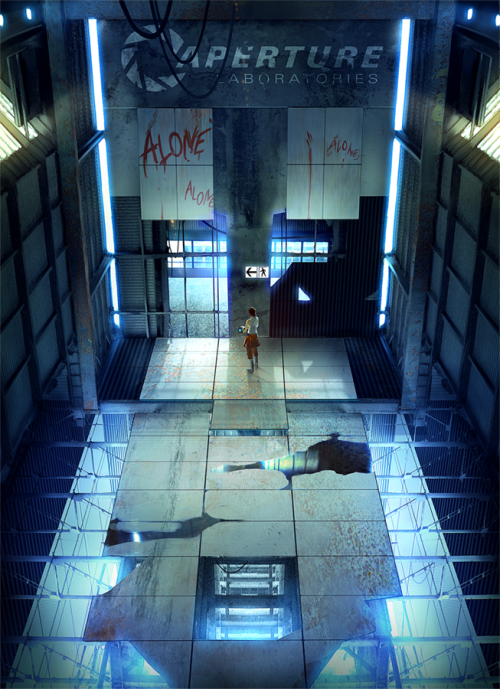 "insanelygaming:  Alone Created by cat-meff Follow this artist on Tumblr  Someone should take this pic and write ""Bad Wolf"" in place of ""Alone""."