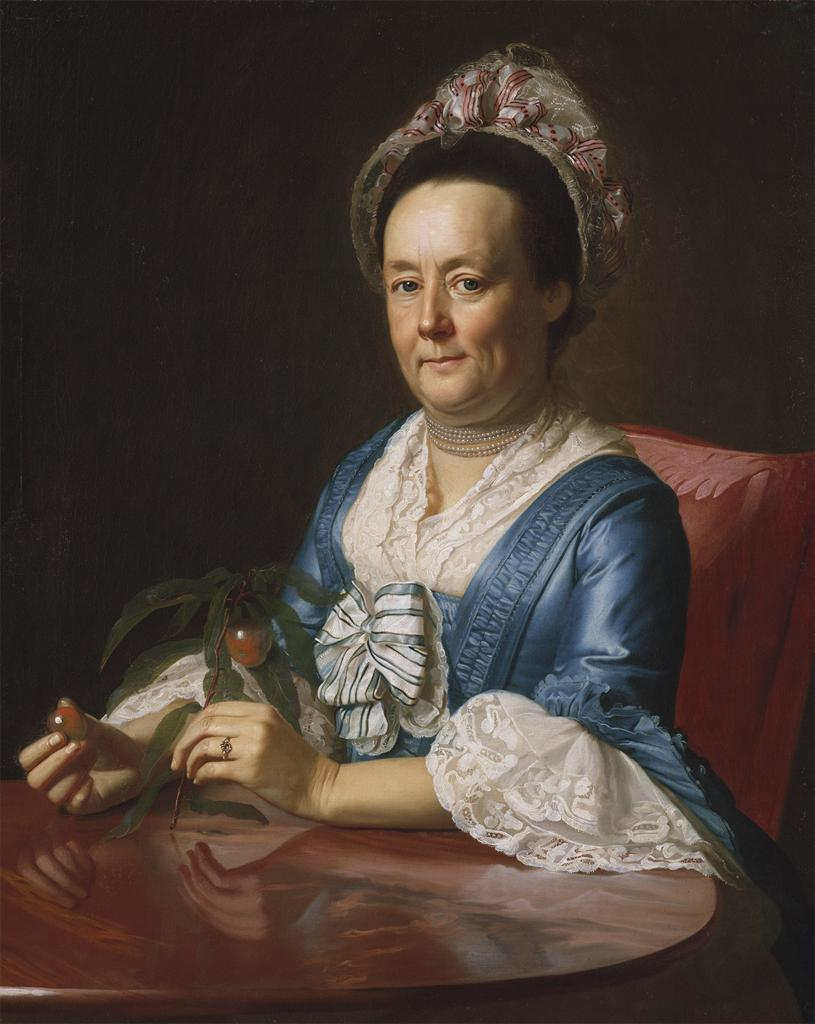 Mrs. John Winthrop, 1773John Sinleton Copley    thegirlwiththecupcakes answered your question: Question Time! You can pick any artist living or dead to paint your portrait. Who would it be? John Singleton Copley all the way :3