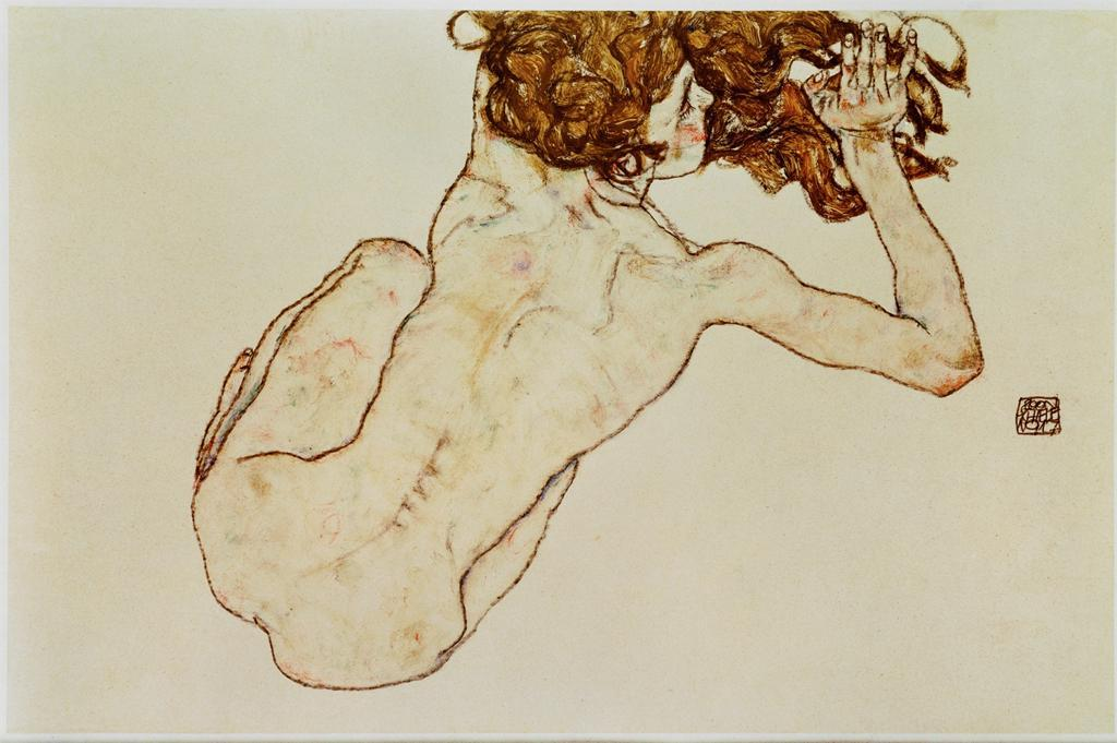 Crouching Nude, 1917Egon Schiele    foda-secadela answered your question: Question Time! You can pick any artist living or dead to paint your portrait. Who would it be? egon schiele