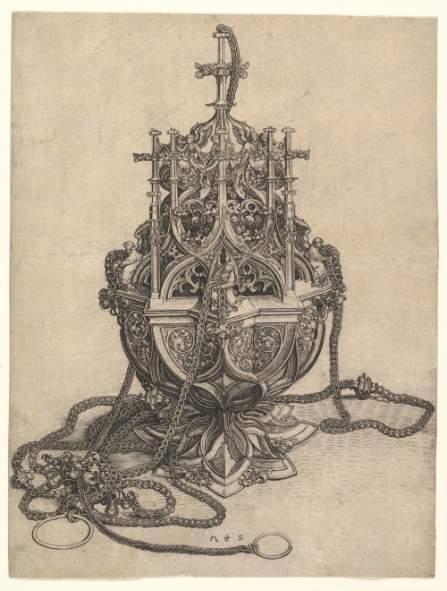 Martin Schongauer, The Censer, Engraving, 15th Century