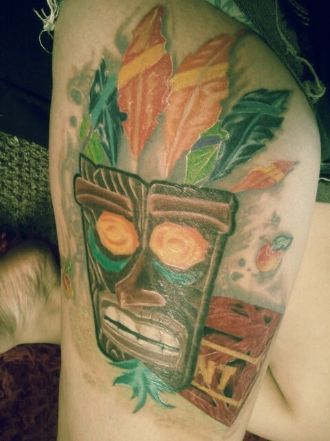 fuckyeahtattoos:  my crash bandicoot tattoo. my childhood.  8-O!!!