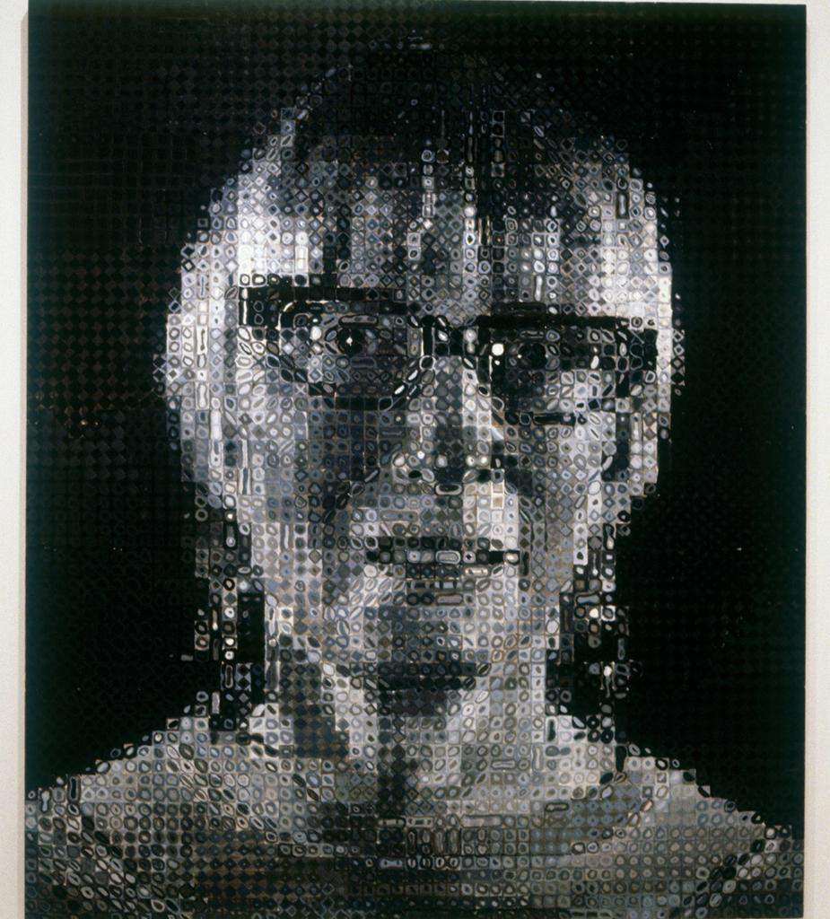 Janet, 1992Chuck Close  darling-young-one answered your question: Chuck Close. Painstakingly honest; Close is just brilliant.