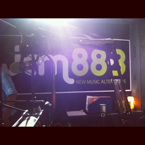 At Jam 88.3 :) 2nd time! (Taken with instagram)