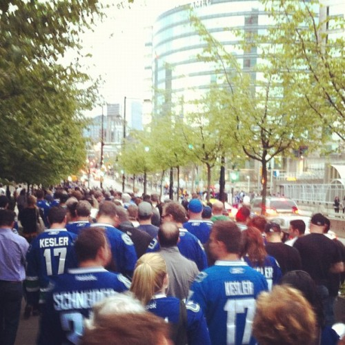 The walk of silence #canucks  (Taken with instagram)