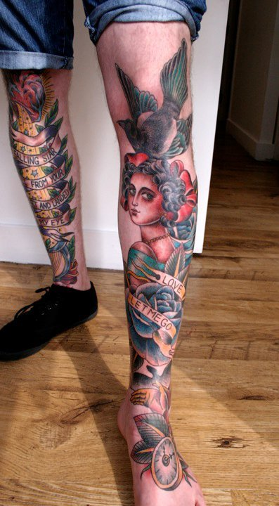 fuckyeahtraditionaltattoo:  Sarah Schor