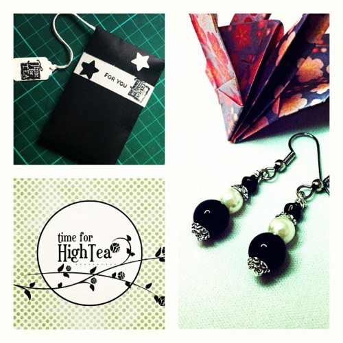 Petite Black + White #earrings #timeforhightea #black #white #handmade  (Taken with instagram)