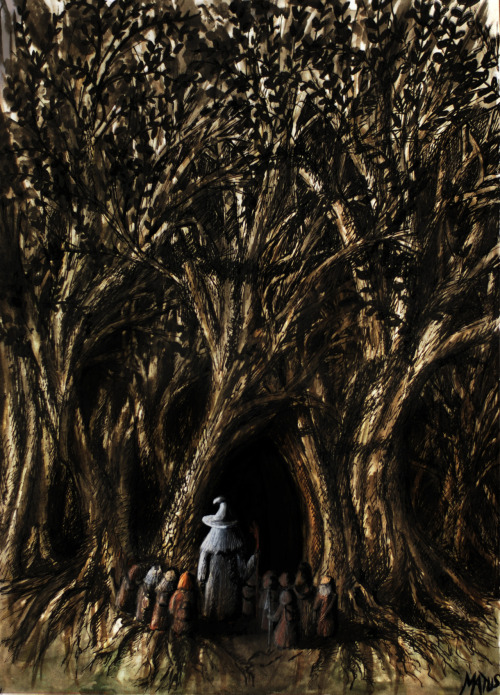 pacalin:  Wow. Entrance to Mirkwood Created by Dominik Matus