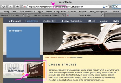 Queer studies… is it an academic concentration or an admissions marketing ploy?