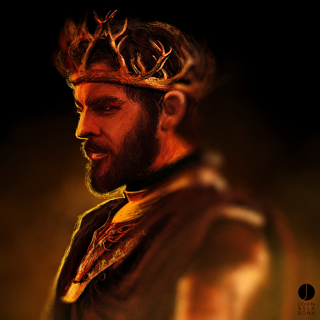 johnaslarona:  THE QUEEN A Renly Baratheon speed-paint.Facebook    STORE@Society6   Tumblr   Twitter