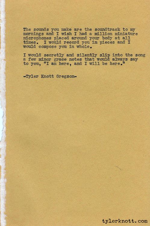 Typewriter Series #29 by Tyler Knott Gregson