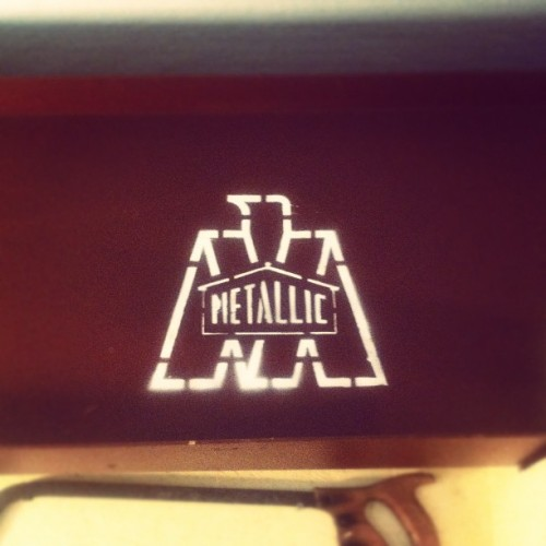 Metallic Steel logo (Taken with instagram)