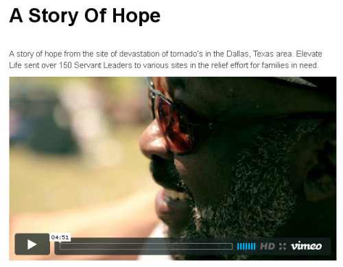 Story of Hope - We sent over 150 Servant Leaders in the relief effort for families in need… WATCH THE VIDEO http://bit.ly/HQvhKy