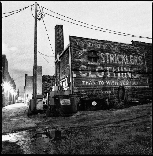 Strickler's Clothing Hasselblad 503cx, Kodak Tri-X, HC110 October, 2009