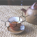 molecules-and-muses:    Tea is the second most popular drink in the world, and the health benefits of this beverage have been touted since ancient times. Science has generated a body of evidence suggesting that regular consumption of green tea can help to prevent obesity and even some forms of cancer. The key molecules involved are catechins, polyphenolic compounds with tremendous antioxidant properties. Shown here is the structure of epigallocatechin gallate, which accounts for 50-80% of the catechins present in green tea. In black teas, the process of fermentation oxidizes catechins into theaflavins or theagrubins, polymerized catechins. In oolong tea, which is only partially fermented, theaseninsens are formed, dimers of catechin molecules. For a breakdown of tea chemistry, check out this review.