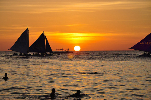 Sunset in Boracay on Flickr.