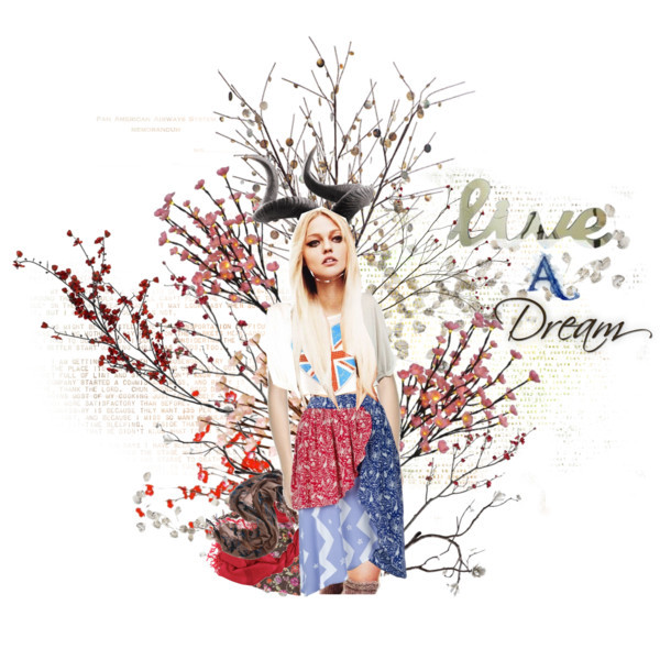 "Live a Dream by skinny-a featuring MIGH-T BY KUMIKO WATARI skirtsTop, $16MIGH T BY KUMIKO WATARI skirtLeigh and Luca scarve, €121Scarve, £70Scarve, £30John-Richard Collection Two Faux Water Buffalo Horns, $147Z Gallerie - Avalon Shell Branch - Set of 3, $33Lighted Cherry Blossom with 3 Branches 40"", $31Gerson Everlasting Glow 20-Inch Battery Operated Cherry Blossom…, $23ROOMMATES RMK1677GM Silver Dollar Branch Peel and Stick Giant Wall…, $20Plum Blossom Branch in Botanicals and Plants 