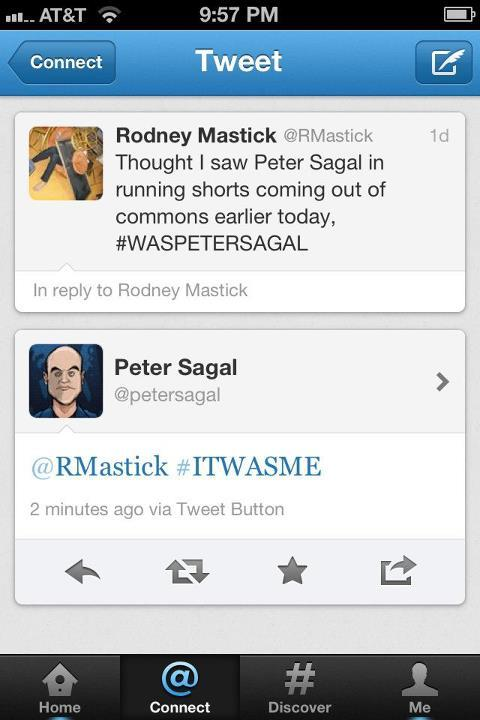 antoniaeh:  Peter Sagal in the Reed Commons? My life is one step closer to complete.