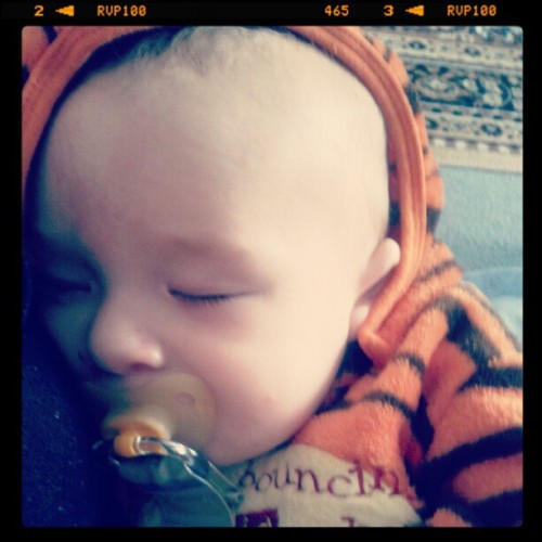 My little tiger cub is fast asleep:D (Taken with instagram)