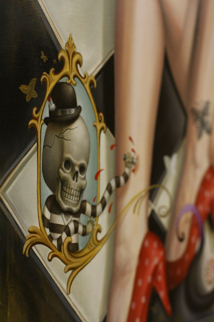"Alex Garcia ""Sorry I'm Late"" solo show @ the Dolorosa Tattoo Company. such an awesome exhibition.."