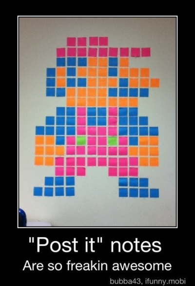 #mario #postitnotes #nerd #awesome