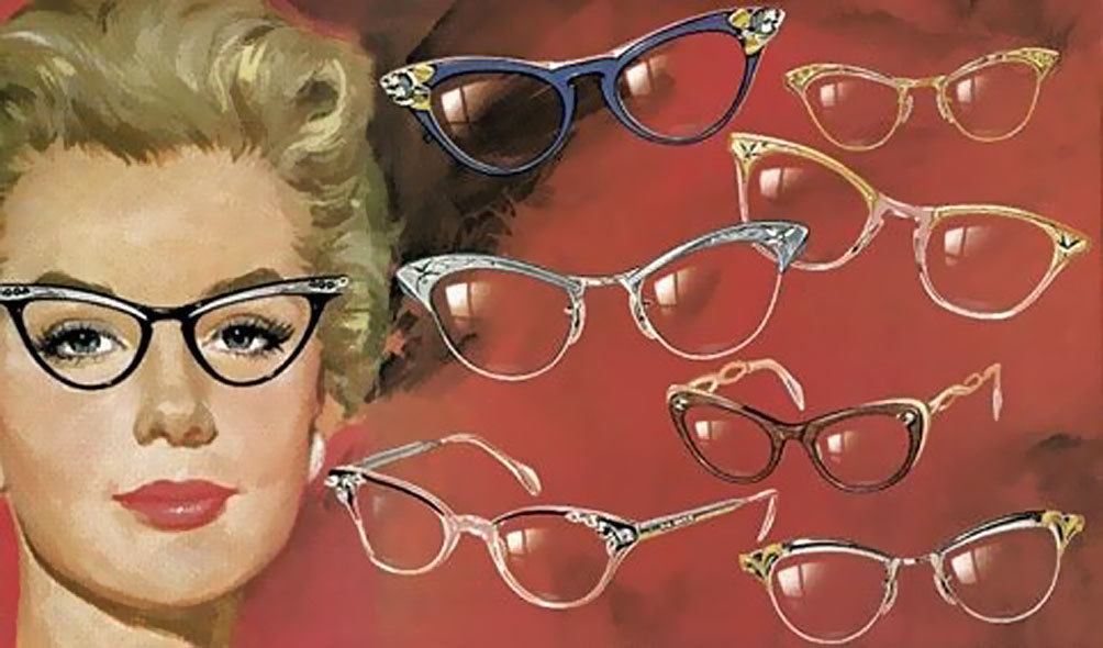 1954 Eyeglasses advertisement detail