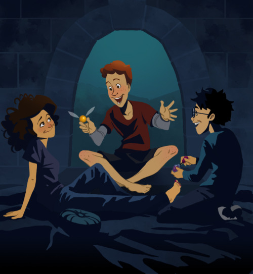 Harry Potter: Pajama Party by ~TwiggyMcBones (via io9)