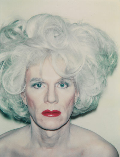 Self Portrait with platinum bouffant wig, 1981, Andy Warhol