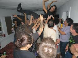 Result of the dance party after the first house show