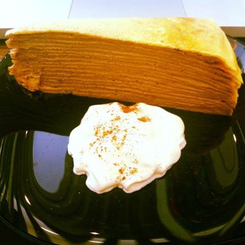Nutella Crepe Cake! :) #nomnomnom #dessert #happyfood (Taken with instagram)