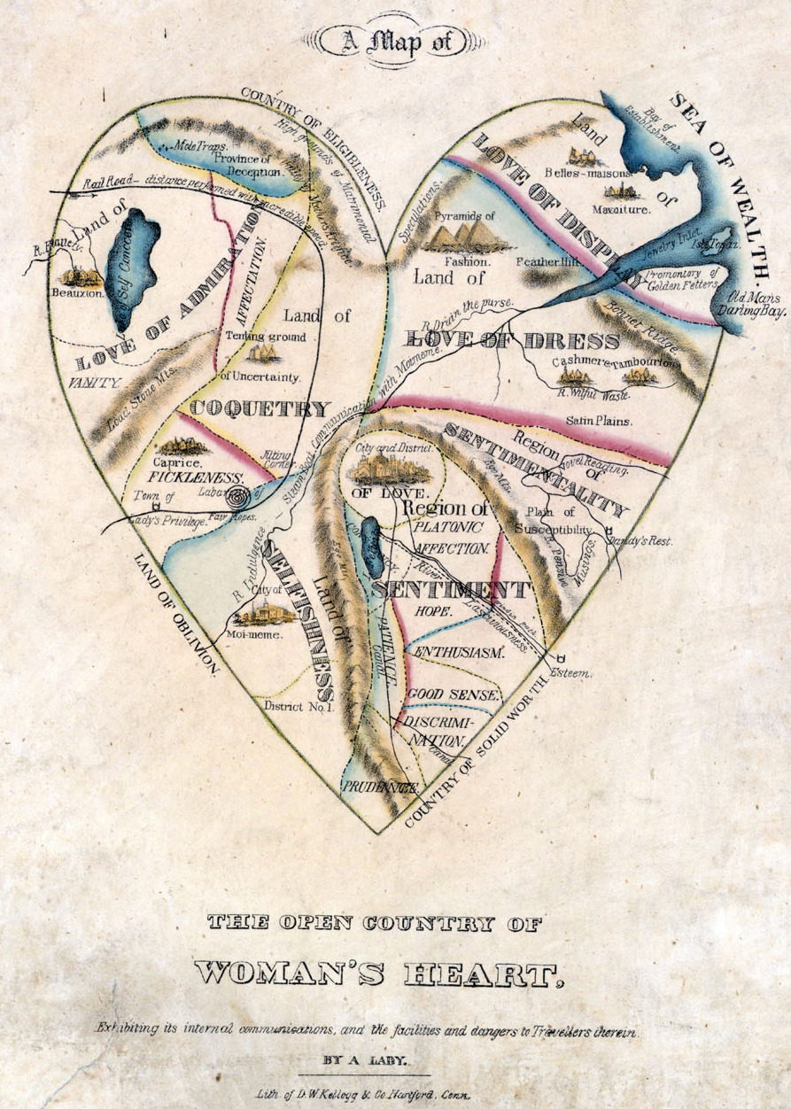 A Map of the Open Country of a Woman's Heart. (click for large view)
