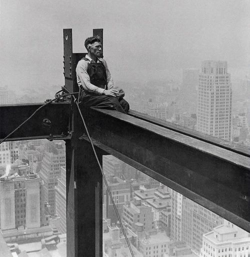 Iron workers like this…fucking brave men, fucking brave.