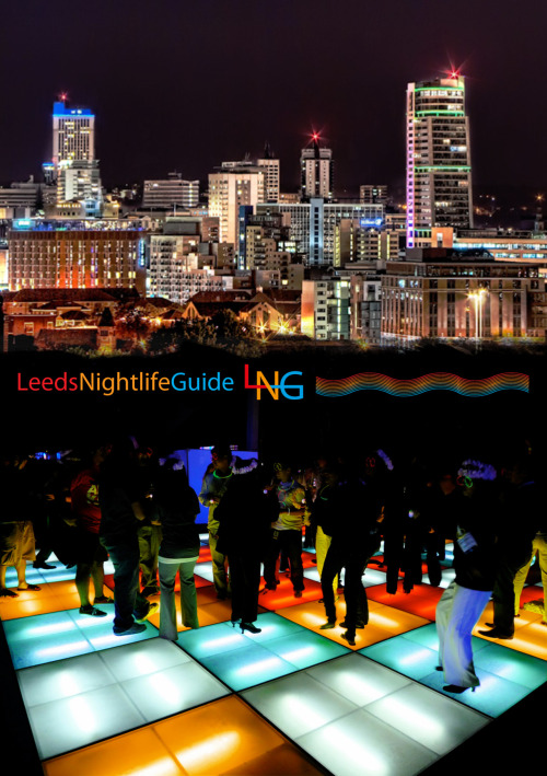 Promotional material for Leeds Nightlife Guide (January 2011).