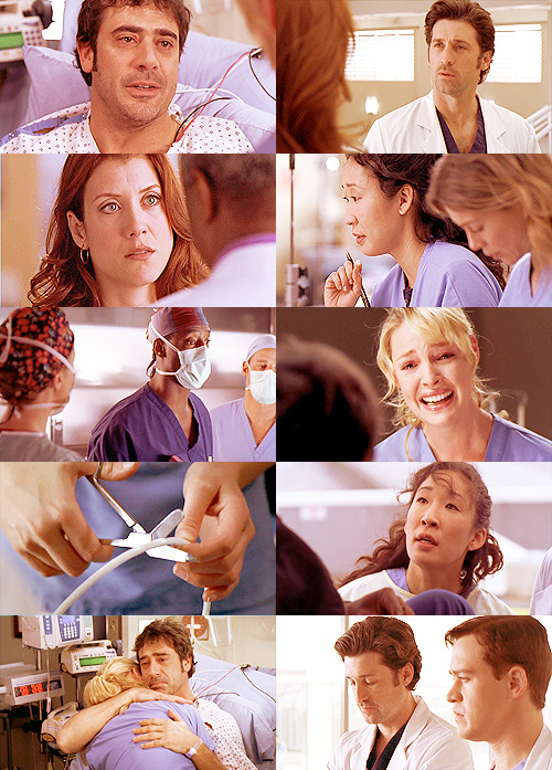 TOP FIVE GREY'S ANATOMY EPISODES[ in no particular order ] + 2x25: 17 Seconds 'What about me? What about me when you go to the light? No, I get it, okay? I get it. You'll be okay, you'll be fine, but what about me? So don't do it for yourself, do it for me! Please! Please, Denny, please do this for me. Because if you die… oh god, you have to do this. You have to do this for me, or I'll never be able to forgive you!'