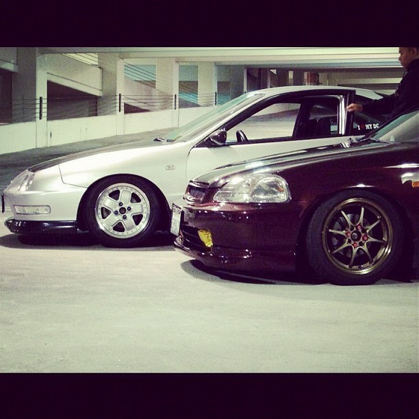 @tycoarcee  #dc2 #ej7 #swap #jdm #mugen #mr5 #volks #te37s #wslb #longbeach (Taken with instagram)